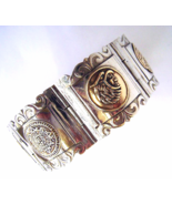 Vintage Silver Mexico Mayan Mixed Metals Wide h... - $55.00