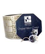 Vintage Swarovski Original Silver Crystal Cat SC logo Box 1970-80s. - $38.00
