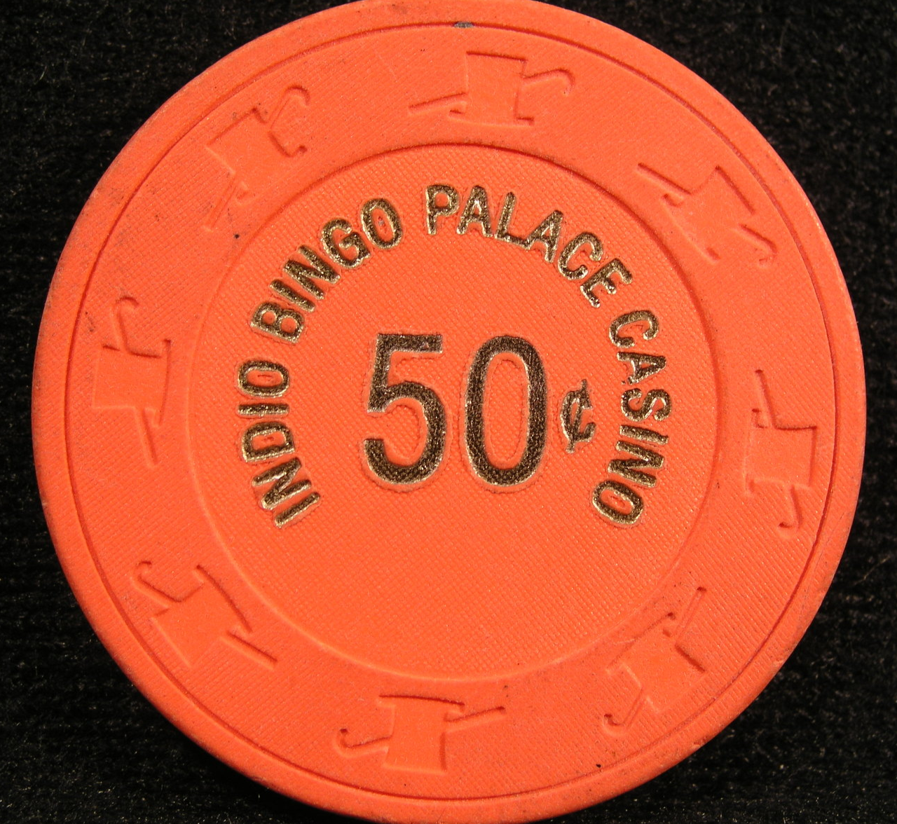 "Primary image for $0.50 Casino Chip From: ""Indio Bingo Palace Casino""- (sku#2344)"