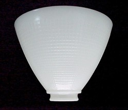 Floor Table Lamp 8 in White Milk Glass Reflecto... - $24.95