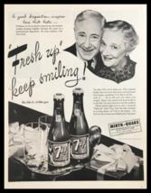 1945 Sparkling 7-Up Keep Smiling Vintage Print Ad - $14.20