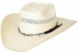 Bullhide SIlver City Cowboy Hat 100X Shantung Panama Straw Conchos Natural - $75.00