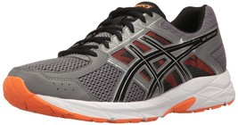 ASICS Men's Gel-Contend 4 Running Shoe Carbon/Black/Hot Orange - $59.99