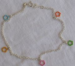 Colored shapes anklet - $22.00