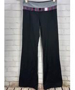 "LULULEMON Yoga Pants Black Gray/Pink Waistband Flare/Bootcut 32"" inseam - $31.68"