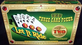 Brand New Factory Sealed!•Let It Ride+Three Card Poker•Home Casino Card ... - $48.59