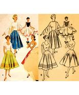 Vintage 1950's Women's Full Skirt Sewing Pattern Waist 24 Hip 33 - $9.99