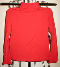 Red Turtle Neck Top by Faded Glory Size 6-6x New! #X189 - $8.99