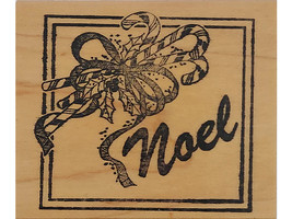 Stamp of Excellence Noel Wood Mounted Rubber Stamp