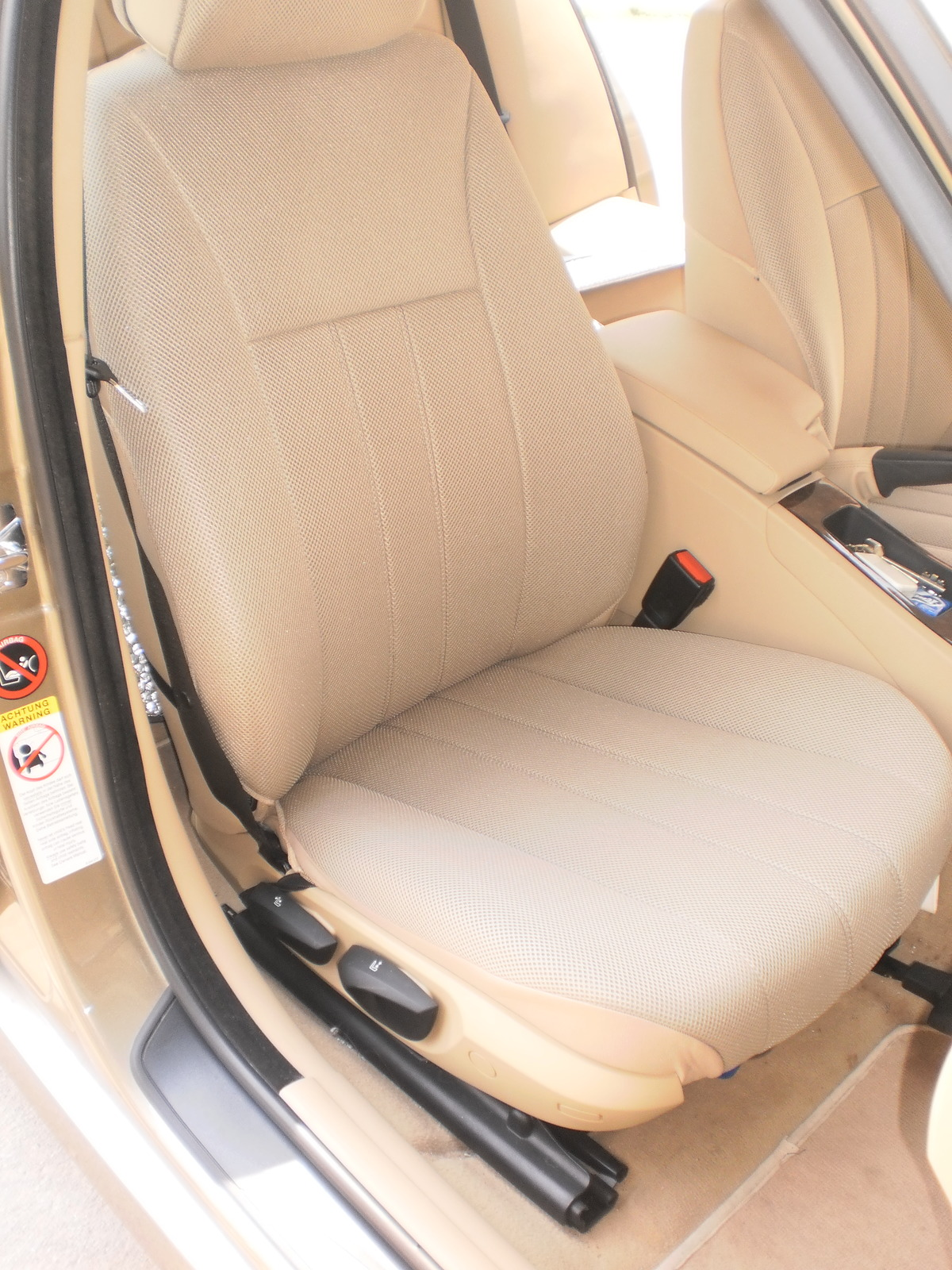 bmw e36 coupe two front custom synthetic tan beige car seat covers seat covers. Black Bedroom Furniture Sets. Home Design Ideas