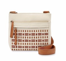 New Fossil Women Corey Small Leather Crossbody Bag Vanilla - $141.56