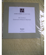 CONCIERGE COLLECTION DIAMOND WEAVE BLANKET QUEE... - $20.00