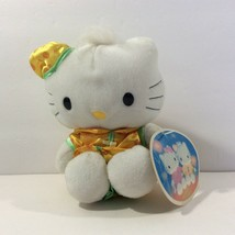 McDonalds Restaurant Promo Hello Kitty 1999 White Cat Orange Green Outfi... - $9.90