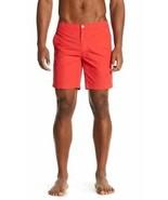 Onia Men's Rose Red Calder Mesh Lined Swim Suit Trunks Shorts 7.5'' - $31.99