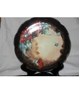 Decorative Plate France Dark Brown Trim Poppies... - $75.00