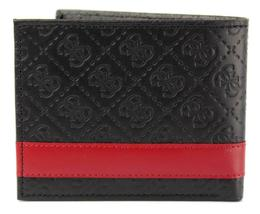 New Guess Men's Leather Credit Card ID Wallet Passcase Billfold Black 31GU13X008 image 3