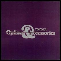 1979 Toyota Car & Truck Accessory Accessories Brochure - $16.63