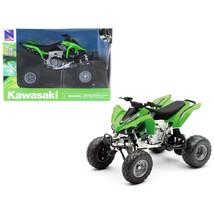 Kawasaki KFX 450R ATV Green 1/12 Motorcycle Model by New Ray 57503S - $30.04