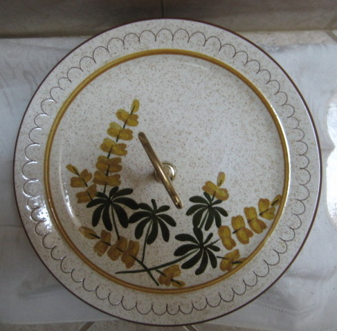STANGL-Golden Blossom Tidbit Handled Serving Platter