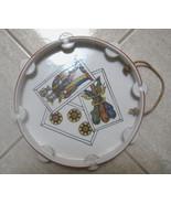 Mid Century Modern Tamborine Dish Tarot card symbols - $25.00