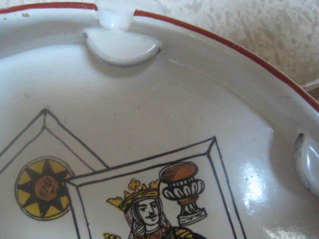 Mid Century Modern Tamborine Dish Tarot card symbols