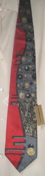 Brand New Men's Silk Tie - With Balls!!!  WOW!