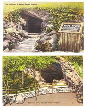 Natural Bridge Virginia VA 2 Vintage Linen Postcards - $5.95