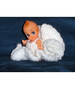 Vintage Kewpie Doll Cupie in Crochet  Angel Dress - $19.97