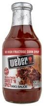 WEBER FOOD GROCERY BBQ SAUCE SWEET N SPICY 18 OZ - $12.79