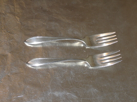 Pair of Wm. Rogers Lufberry (1915) dessert forks - $13.99
