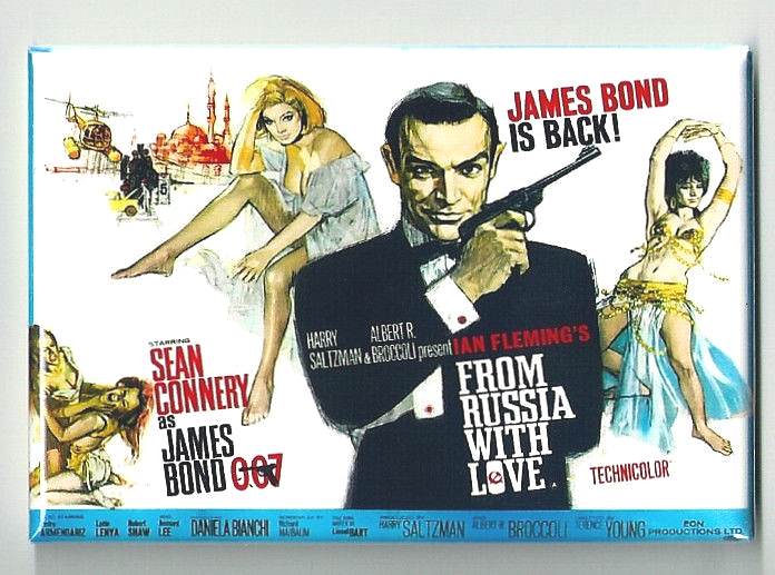 FROM RUSSIA WITH LOVE MAGNET 2X3 INCHES JAMES BOND MOVIE POSTER 007 SEAN CONNERY