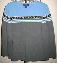Beautiful Grey & Blue Sweater by Charter Club Size 2X Nice! #D393 - $13.99