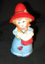 Vintage 1973 JACCO #2 Figurine Bell Girl Drum Red Hat - $17.85