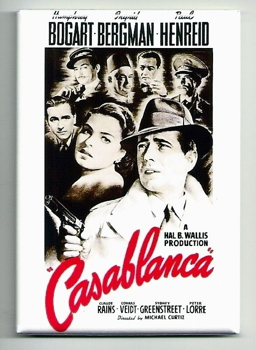 Casablanca movie poster magnet