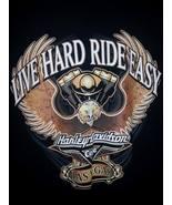 Live Hard Ride Easy Harley Davidson Cafe Las Vegas Black T Shirt Sz XL - $16.99