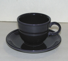 Fiesta Ware HLC Deep Purple Cup and Saucer Contemporary - $22.99