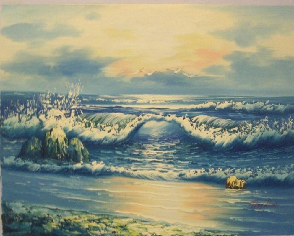 Taylor Canvas Painting Sunrise Waves