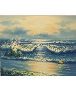 """Original Oil Painting on Canvas by Taylor -  """"Sunrise Waves"""" - $50.00"""