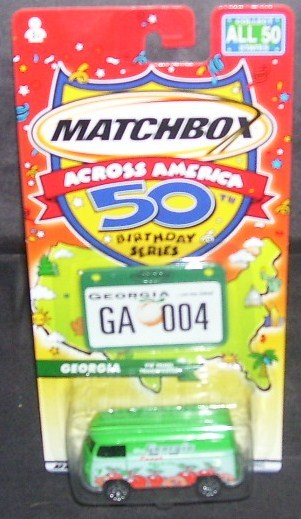 Matchbox Across America GEORGIA VW PANEL TRANSPORTER Diecast