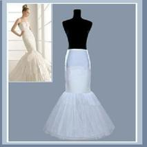 Trumpet Mermaid Petticoat Half Slip with one Hoop Bone
