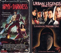 Two (2) VHS Horror Videos - Army Of Darkness & Urban Legends FINAL CUT - $7.00