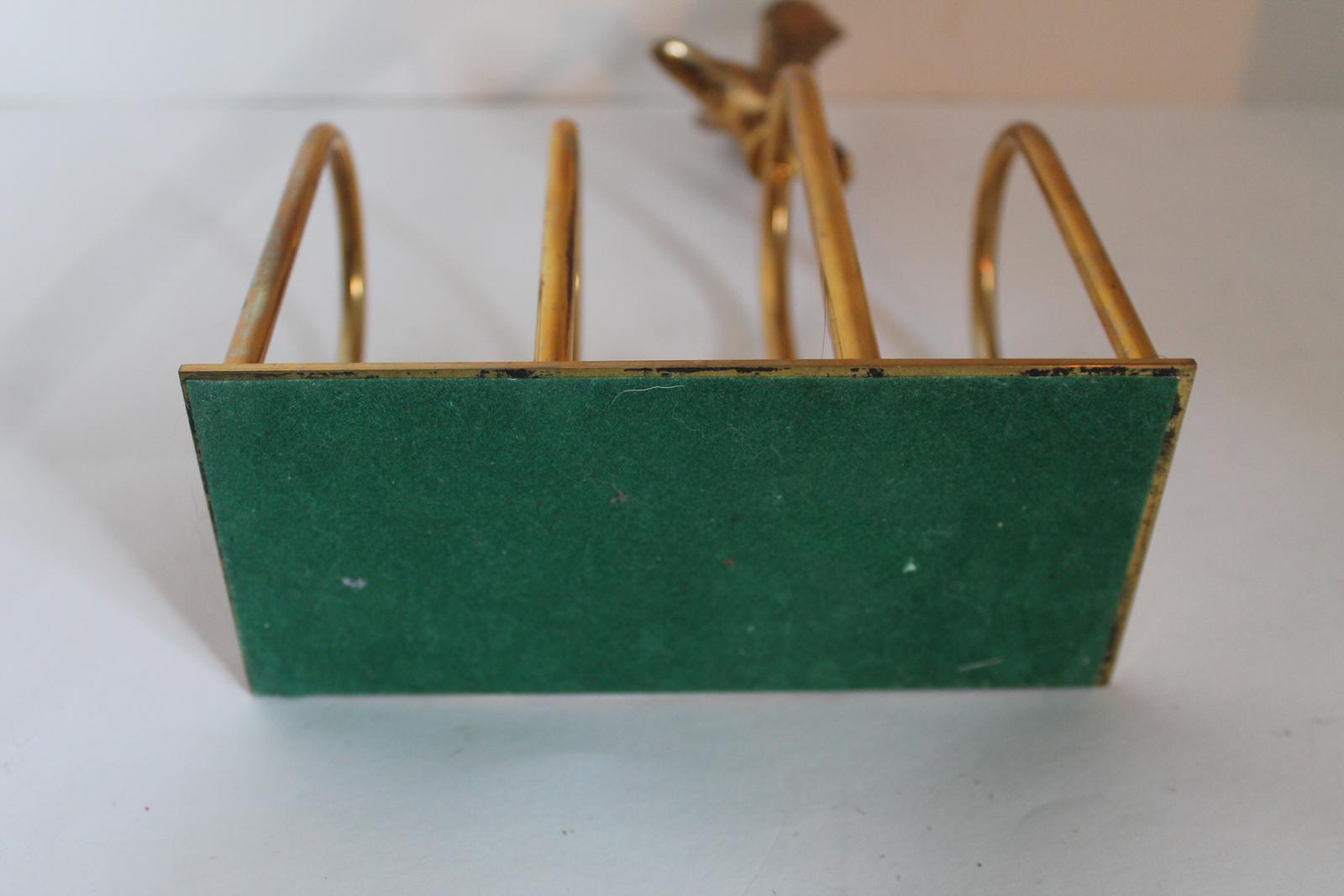 Vintage solid brass eagle letter holder brass eagle for Vintage letter holder desk