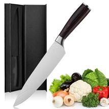 Chef's Knife 8 Inch Home and Professional High Carbon Stainless Steel Di... - $19.79