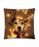 Christmas Pillow, Christmas Gift, Dog Pillow, Reindeer Pillow, Terrier, Dog Love - €37,89 EUR - €46,32 EUR
