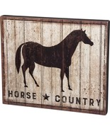 """Primitives by Kathy Box Sign, 19"""" x 16"""", Horse Country - $46.17"""
