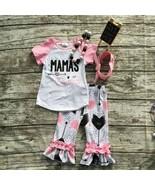 NEW Boutique Mama's Mini Girls Ruffle Leggings Outfit 8-9 - $16.99
