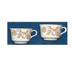 2 Vintage Nikko Hierro Piedra China Foremost Japón Flor Tazas de Café Ex... - $16.54