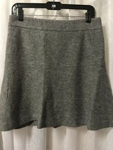 Ann Taylor Women's Skirt Gray Wool Blend Fully Lined Skater Skirt Size 6 - $29.69