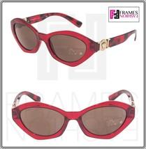 VERSACE Oval 4334 Translucent Red Gold Signature Medusa Sunglasses VE4334 Unisex - $197.01