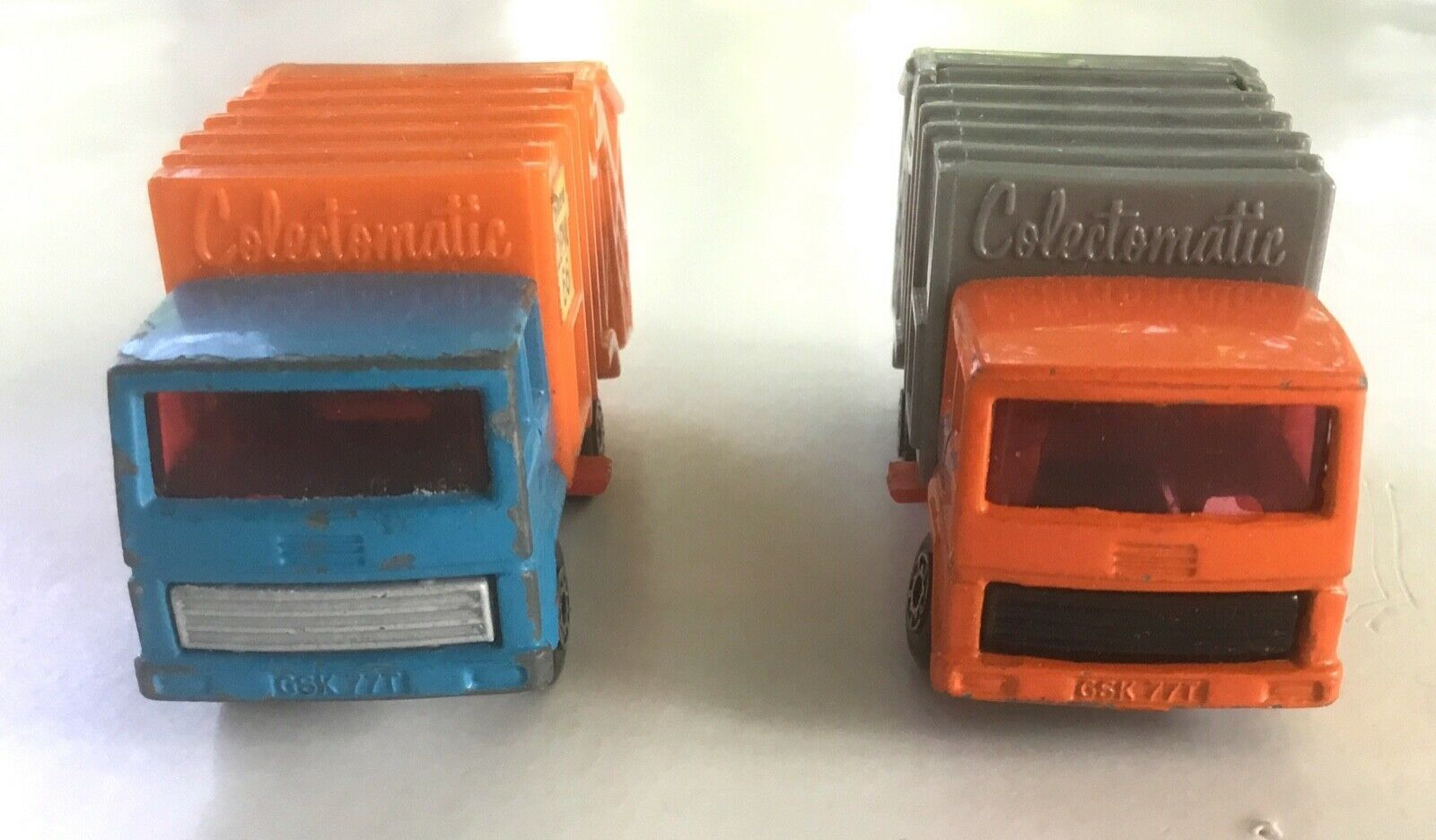 Pair of Matchbox Superfast Colectomatic Refuse Garbage Trucks